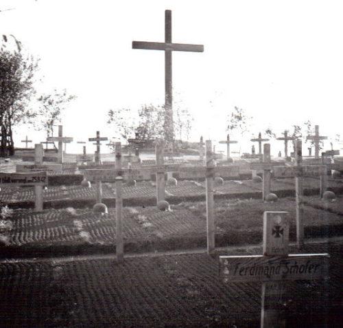 Немецкое кладбище в районе города Тютковичи. 1942 г.