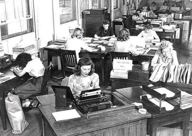 Военнослужащие дешифровального офиса армии. 1944 г.