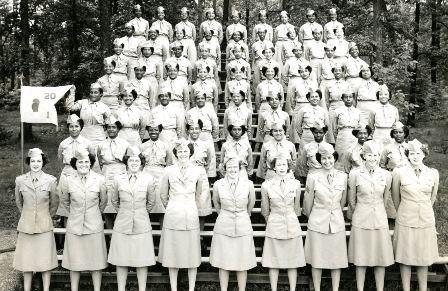 Афроамериканская рота в учебном полку. Чикамауг, 1945 г.
