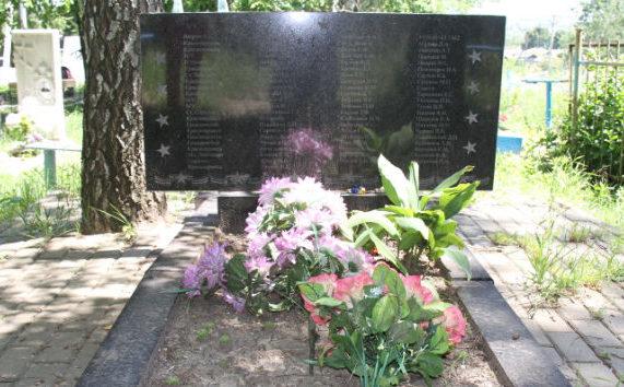 г. Короча. Памятник, установленный на братской могиле советских воинов.