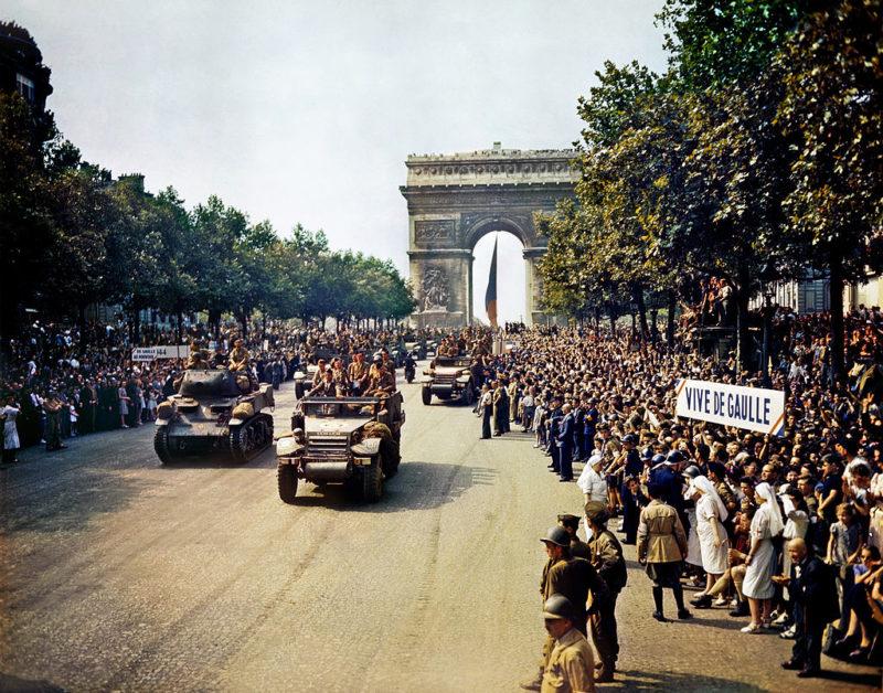 Вступление дивизии Леклерка в Париж. 25 августа 1944 г.