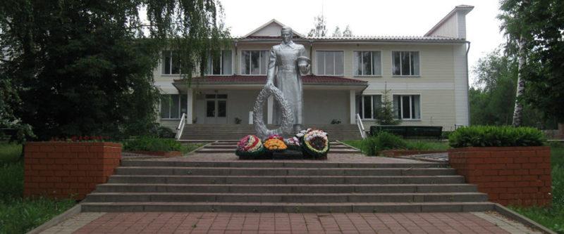 с. Долгое Вейделевского р-на. Памятник по улице Центральной в честь погибшим советских воинов.