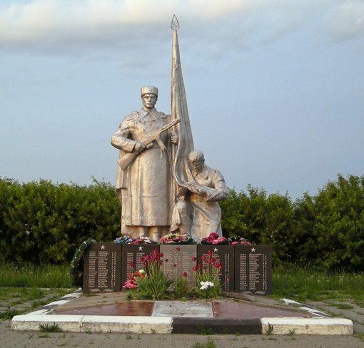 с. Ближняя Игуменка Белгородского р-на. Памятник по улице Центральная 4, установленный на братской могиле, в которой похоронено 154 советских воинов, погибших в 1943 году.