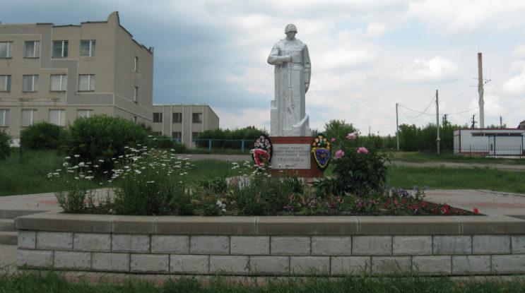 х. Ромахово Вейделевского р-на. Памятник по улице Центральной, установленный на братской могиле, в которой похоронено 5 советских воинов, погибших в 1943 году.