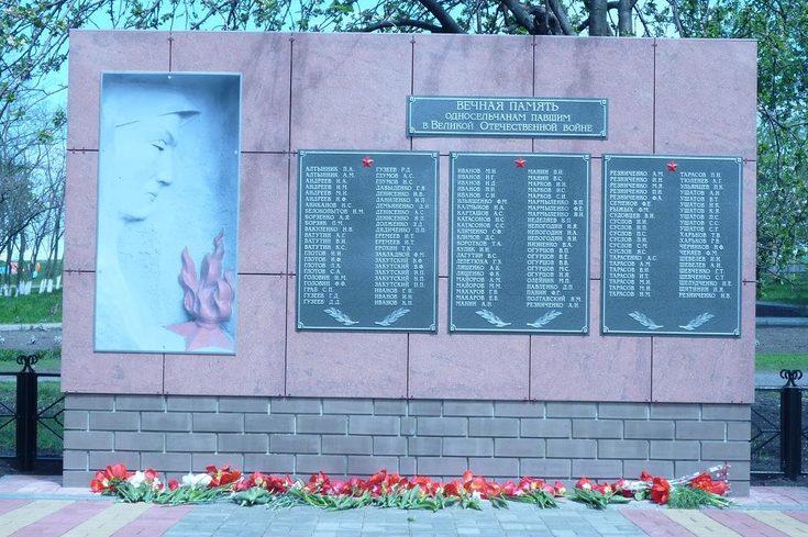 с. Солонцы Вейделевского р-на. Памятник погибшим советским воинам.