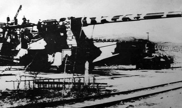 Позиция «Гнилой угол» 6-й Отдельной железнодорожной батареи.
