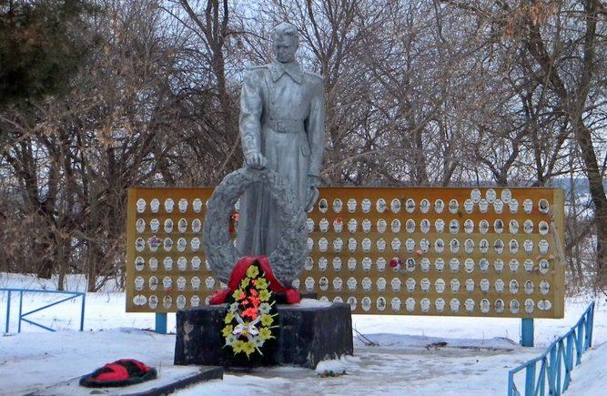 с. Нечаево Корочанского р-на. Памятник по улице Центральной, установленный на братской могиле, в которой похоронено 18 советских воинов, в т.ч. 12 неизвестных, погибших в 1943 году.