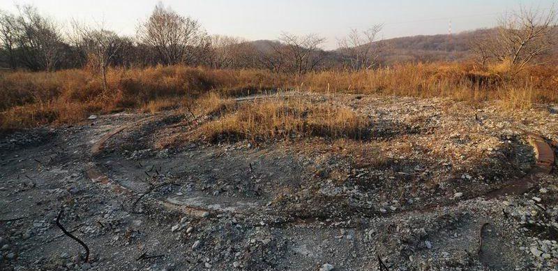 Остатки орудийной площадки позиции «Вампаусу».