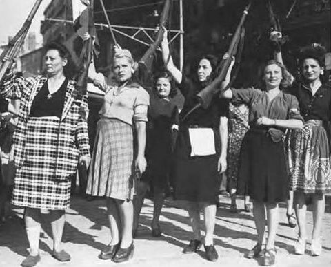 Женщины из французского Сопротивления в Марселе. Август 1944 г.
