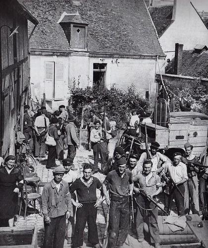 Члены французского Сопротивления. Август 1944 г.