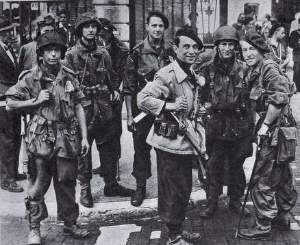 Французская FFI и французская SAS в Лионе. 3 сентября 1944 г.