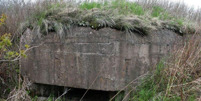 Двухамбразурный ДОТ №15 «Лощина» на острове Русский был построен в 1934 году. Расположен на мысе Ахлёстышева. Класс защиты - М-2.