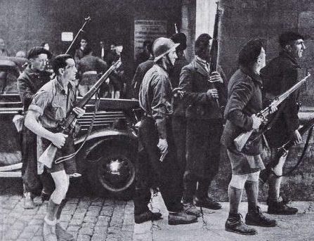 Члены французского Сопротивления в Лионе. 3 сентября 1944 г.