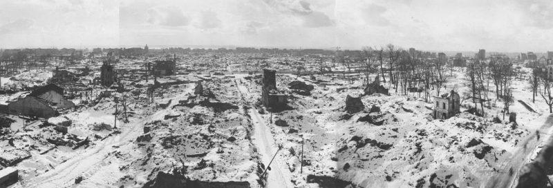Разрушения в Гавре. Сентябрь 1944 г.