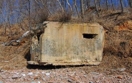 Двухамбразурный ДОТ №209 «Броня» на острове Попова был построен в 1940 году. Расположен на западном берегу о. Шкота. Класс защиты - М-3.