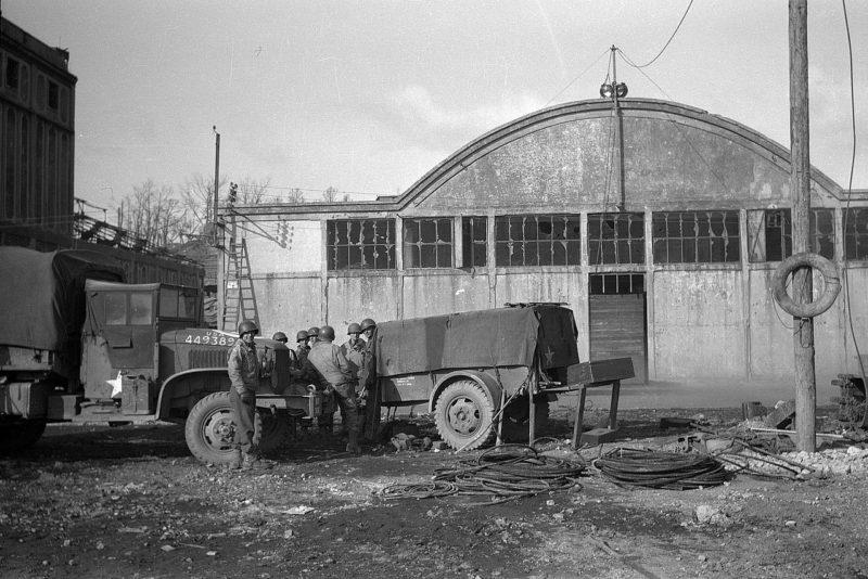 Солдаты США в Бресте. Октябрь 1944 г.