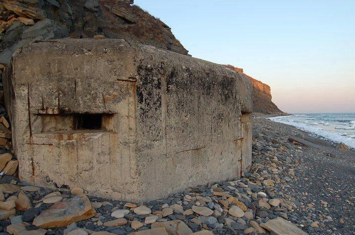 Трёхамбразурный ДОТ №248 на острове Русский был построен в 1941 году. Расположен на м. Вятлина. Класс защиты - М-3.