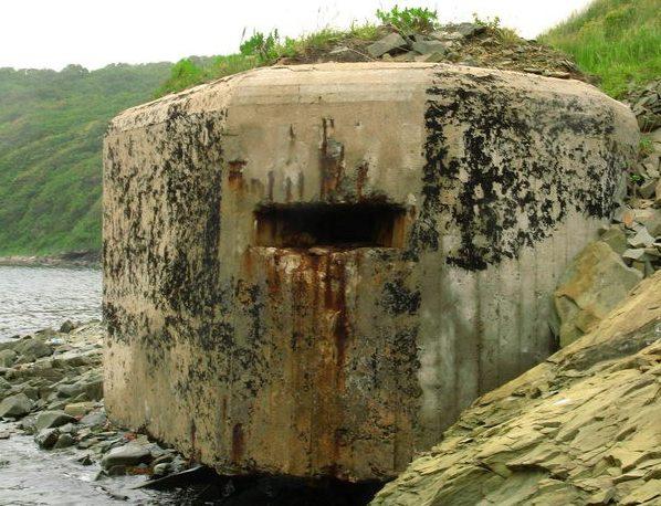 Двухамбразурный ДОТ №251 на острове Русский был построен в 1941 году. Расположен западнее м. Балка. Класс защиты - М-3.