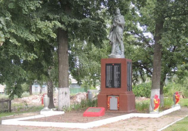 с. Гредякино Красногвардейского р-на. Памятник по улице Трудовой 128в, установленный на братской могиле, в которой похоронено 11 неизвестных советских воинов, погибших в 1943 году.