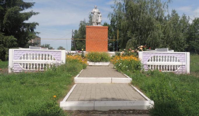 с. Новохуторное Красногвардейского р-на. Памятник, установленный на братской могиле, в которой похоронено 16 советских воина, в т.ч. 12 неизвестных, погибших в 1943 году.
