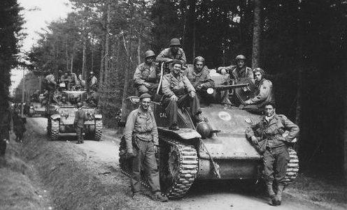 Французские десантники из 1-го батальона. Апрель 1945 г.