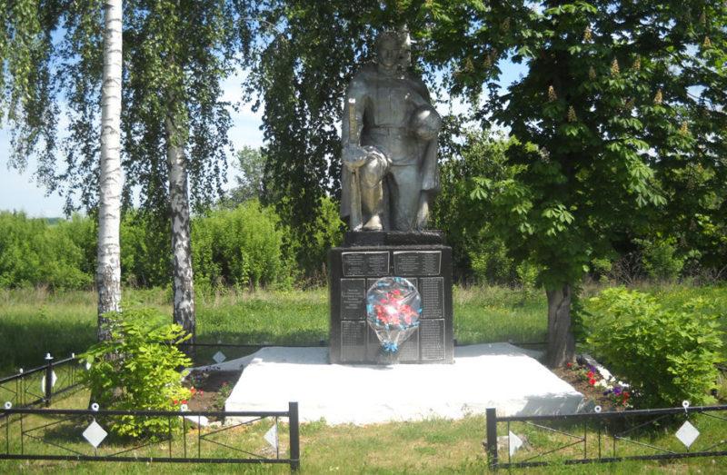 с. Никитское Борисовского р-на. Памятник по улице Подлесовка, установленный на братской могиле, в которой похоронено 6 советских воинов, погибших в 1943 году.