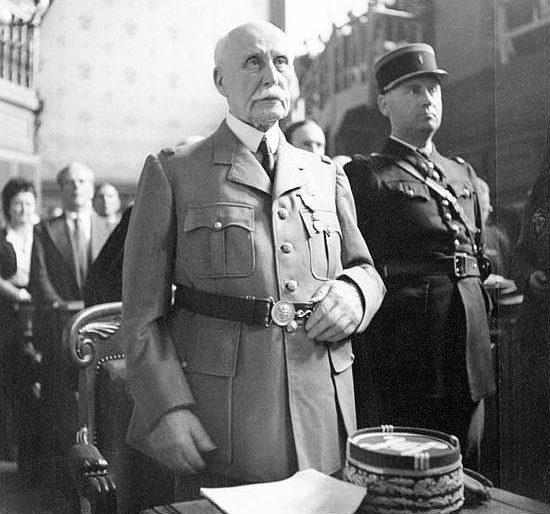 Филипп Петен во время суда. 30 июля 1945 г.