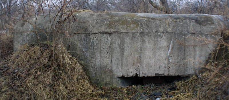 Двухамбразурный ДОТ №302 был построен в 1943 году у п. Угловое. Класс защиты - М-3.