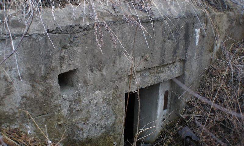Трёхамбразурный ДОТ №313 был построен в 1943 году северо-западнее аэродрома «Центральная-Угловая». Класс защиты - М-3.