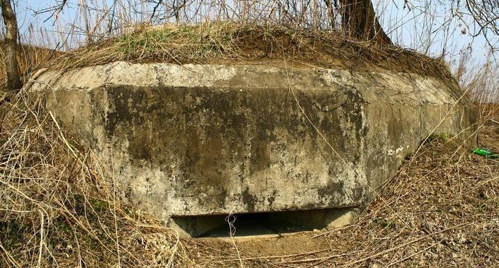 Двухамбразурный ДОТ №335 был построен в 1943 году у подножья г. Орловка. Класс защиты - М-1.