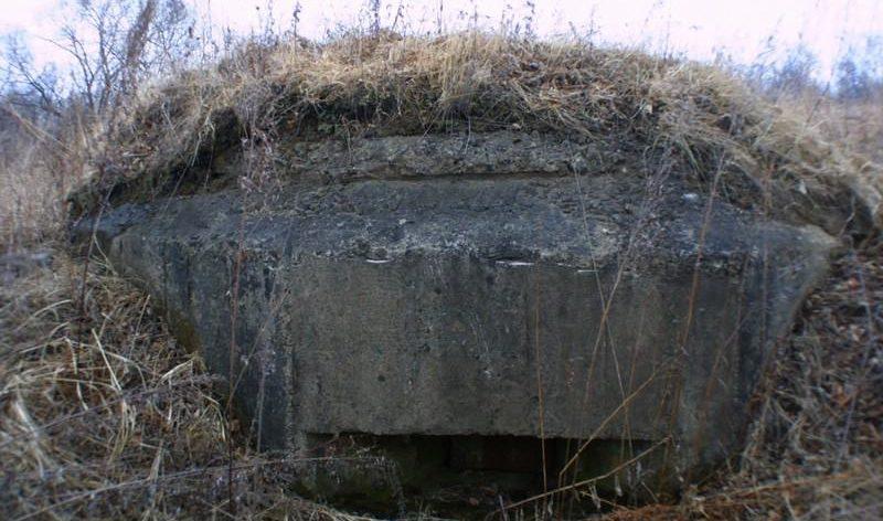 Трёхамбразурный ДОТ №336 был построен в 1943 году в районе аэродрома «Центральная-Угловая». Класс защиты - М-3.