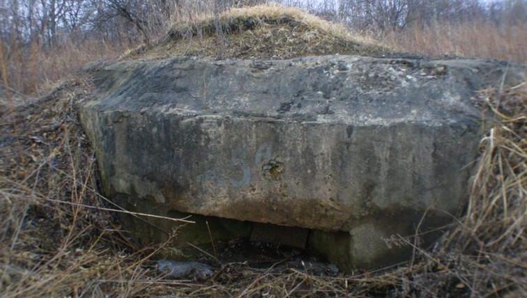 Двухамбразурный ДОТ №337 был построен в 1943 году в районе аэродрома «Центральная-Угловая». Класс защиты - М-3.