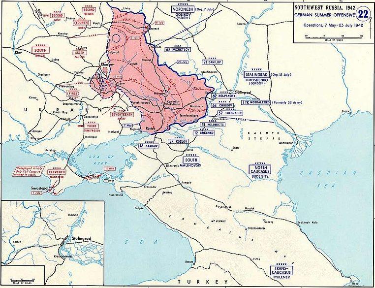 Боевые действия с 7 мая по 23 июля 1942 года в Южной части Восточного фронта.