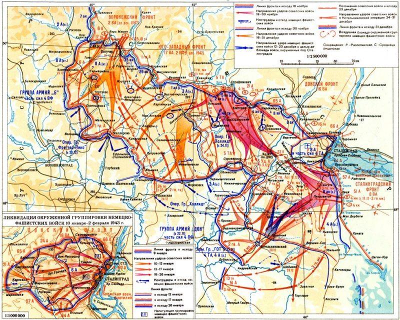 Контрнаступление советских войск 19 ноября 1942 г. – 2 февраля 1943 г.