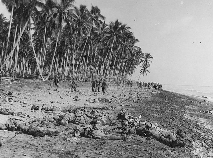 Тела японцев, погибших у мыса Тайву.