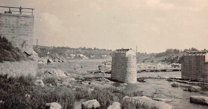 Взорванный мост через Россь. Август 1941 г.