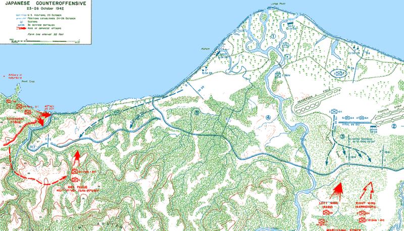 Карта сражения 23-26 октября 1942 г.