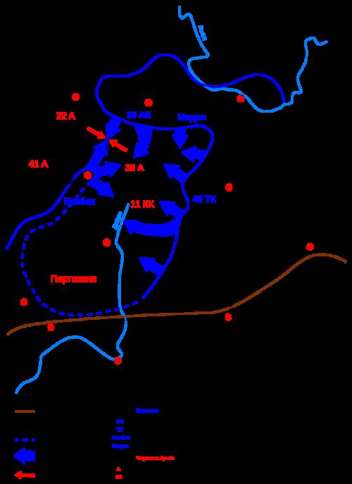 Карта-схема проведения операции ««Зейдлиц»».
