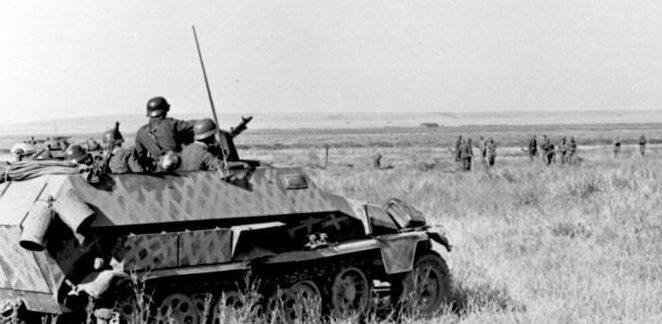 Немецкие войска в степях Дона.