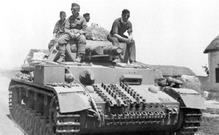 Немецкие танки под Сталинградом.