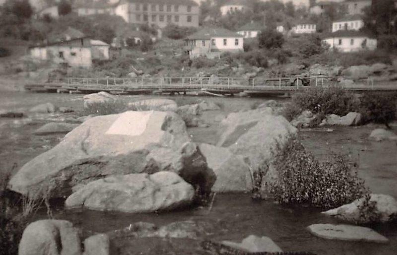 Временный мост через Россь. Август 1941 г.