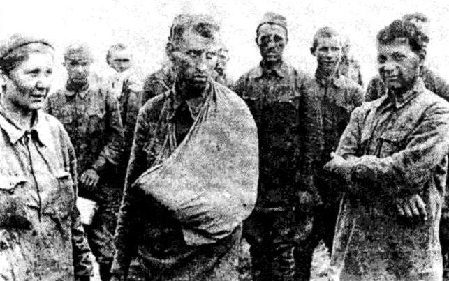 Советские военнопленные из Холм-Жирковского «котла.