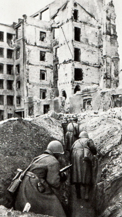 Уличные бои в Сталинграде. Осень 1942 г.