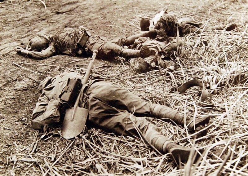 Японские солдаты, убитые в боях за хребет Лунга.