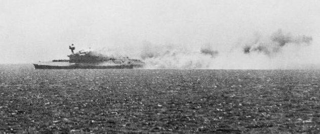 Пожар на авианосце. 11 августа 1942 г.