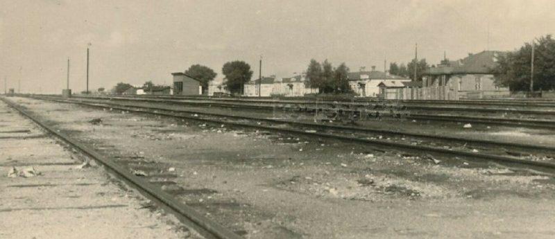 Железнодорожная станция. 1941 г.