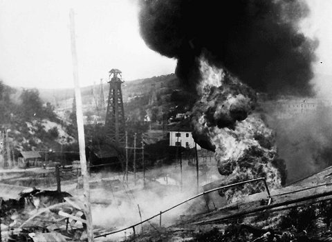 Пожар на нефтебазе. 18 августа 1941 г.