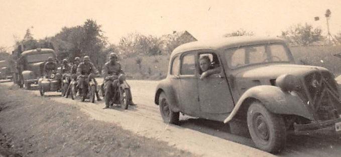 Немецкая колонна у Ковеля. Июнь 1941 г.