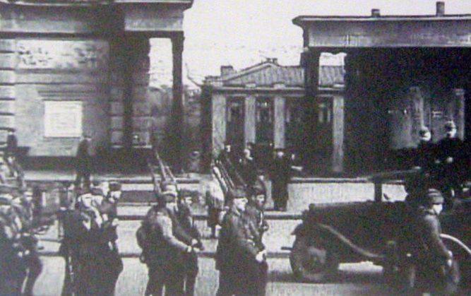 Красноармейцы отправляются на фронт. 1941 г.