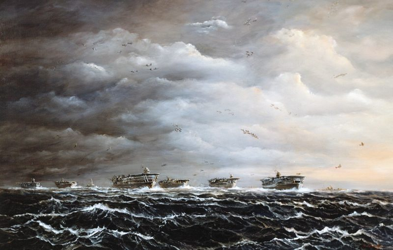 Джон Гамильтон. Японская атака на Перл-Харбор, 7 декабря 1941 года.